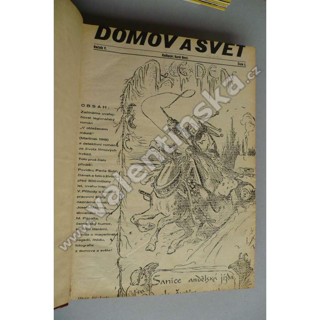 ČASOPIS DOMOV A SVĚT, roč. V - 1931 - 1-52