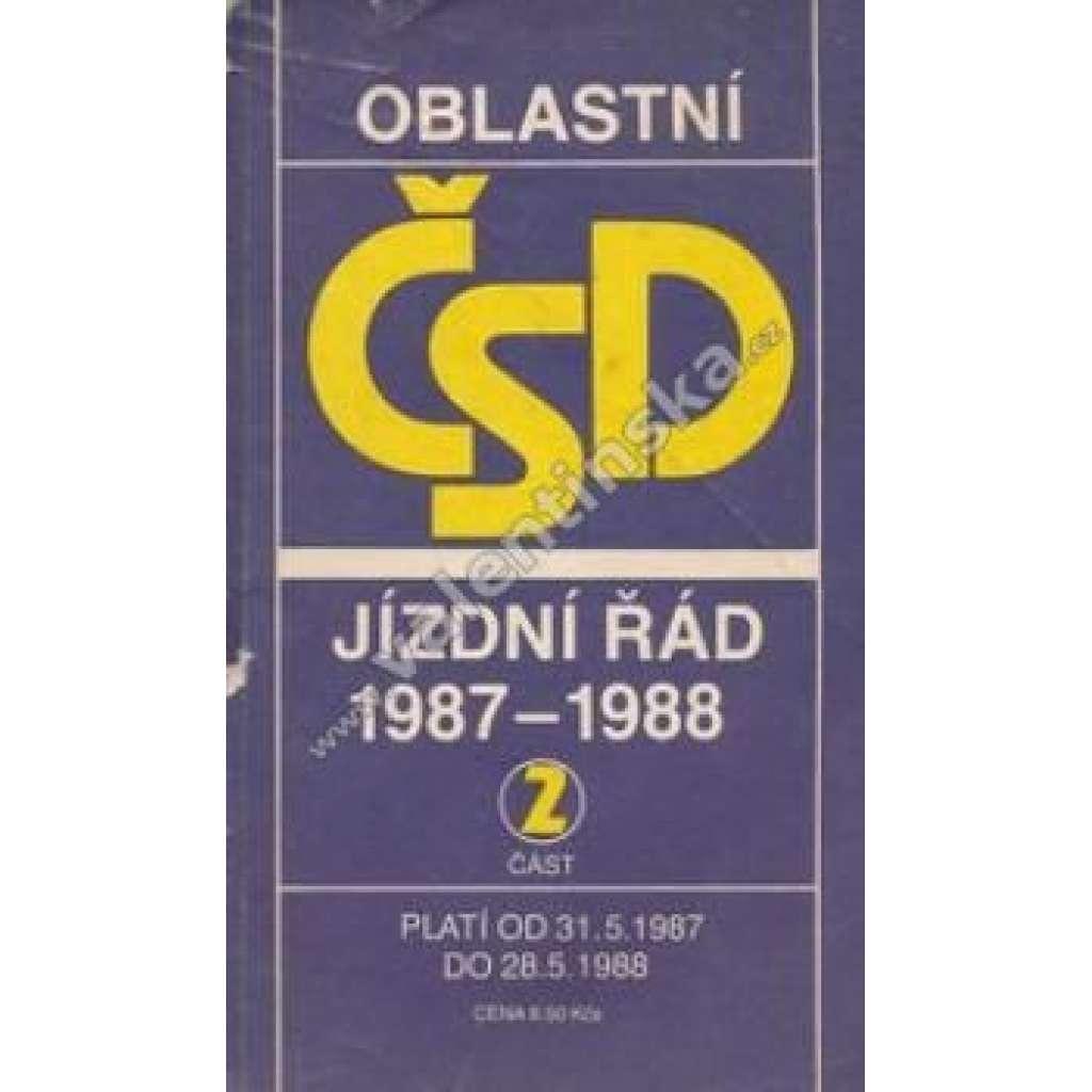 Oblastní řád ČSD 1987-1988. Část 2.