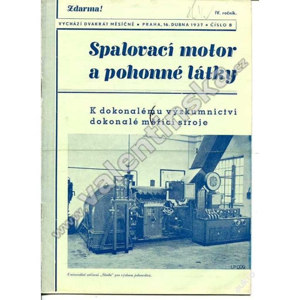 ČASOPIS SPALOVACÍ MOTOR A POHONNÉ LÁTKY IV/8