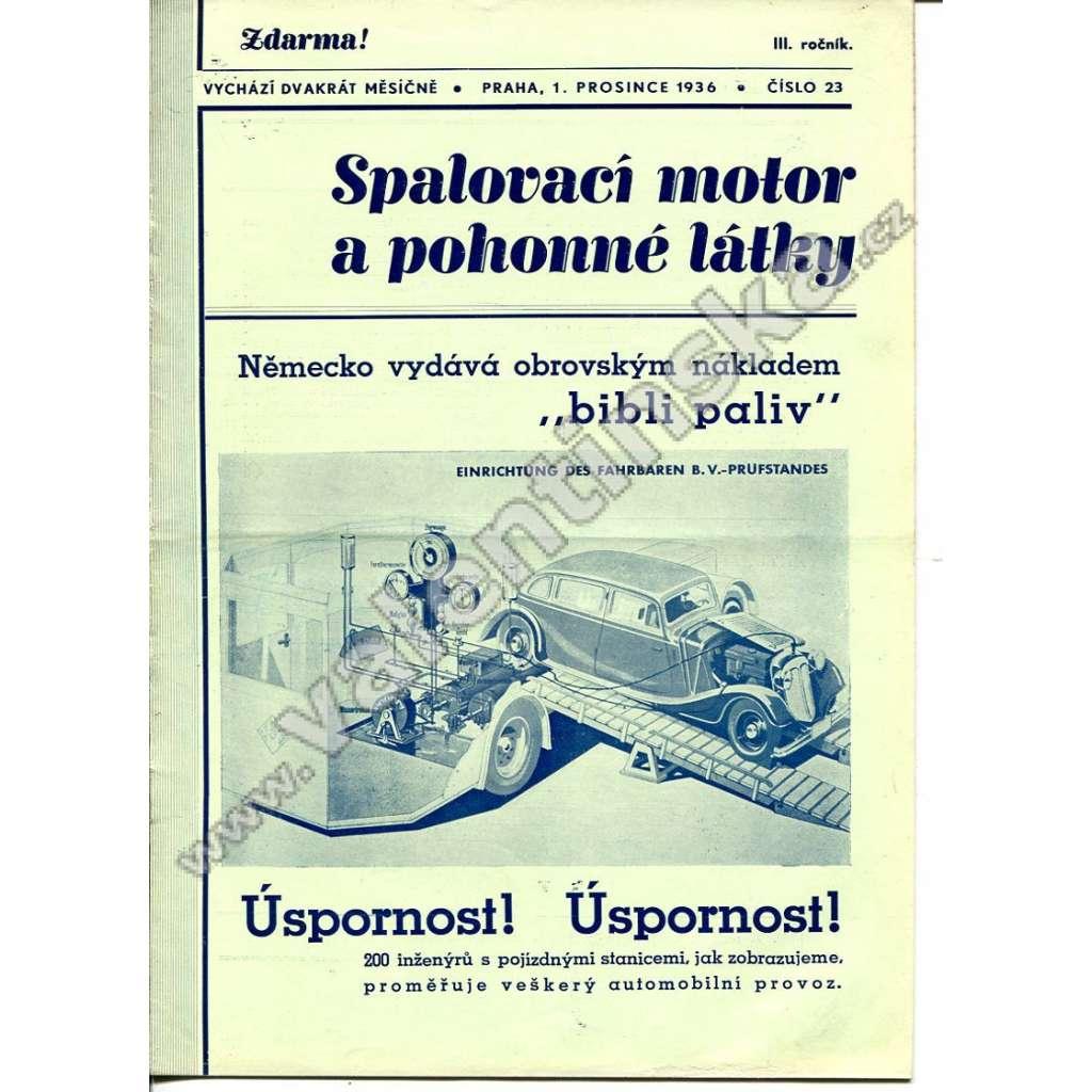 ČASOPIS SPALOVACÍ MOTOR A POHONNÉ LÁTKY III/23