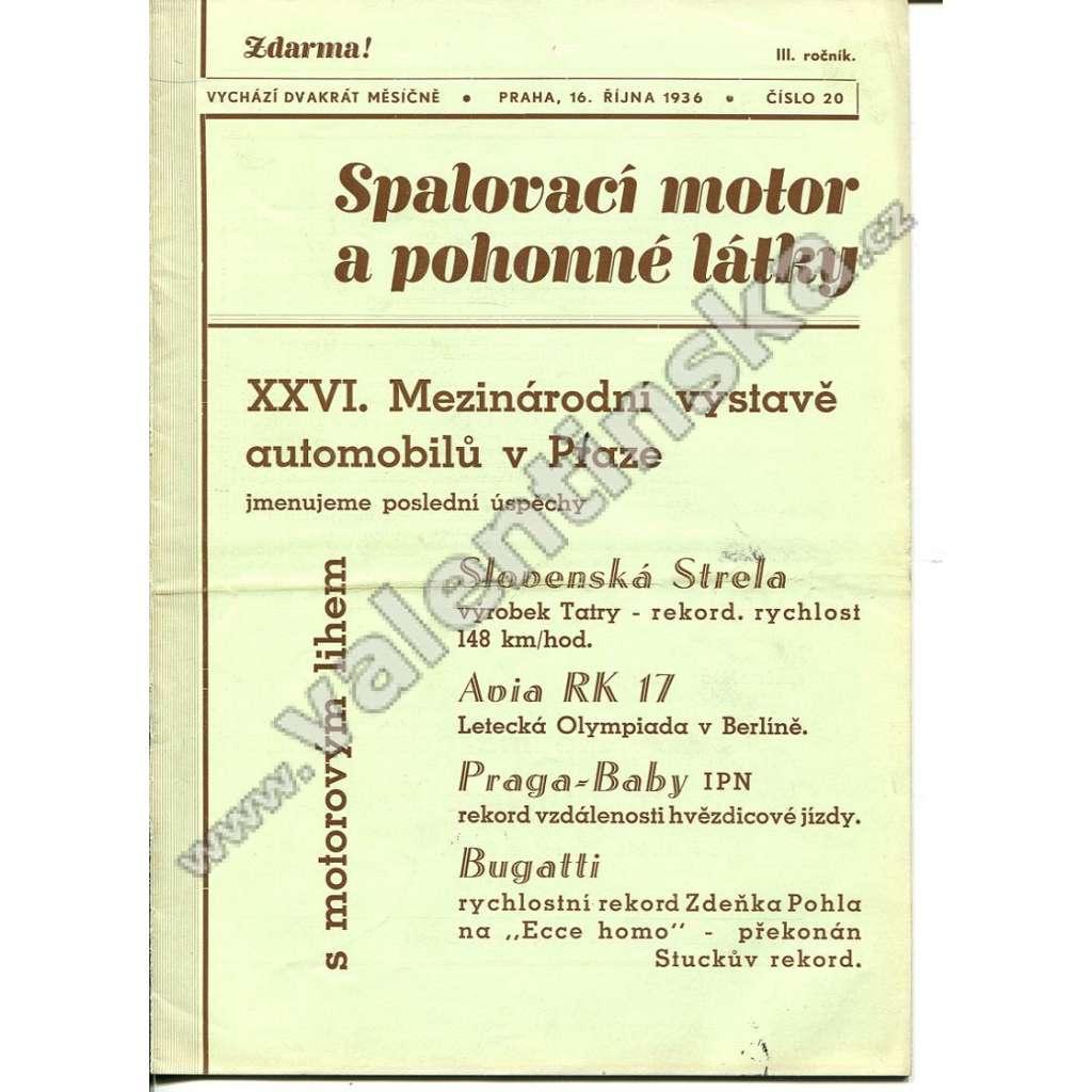 ČASOPIS SPALOVACÍ MOTOR A POHONNÉ LÁTKY III/20
