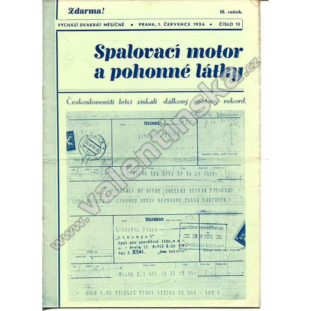 ČASOPIS SPALOVACÍ MOTOR A POHONNÉ LÁTKY III/13