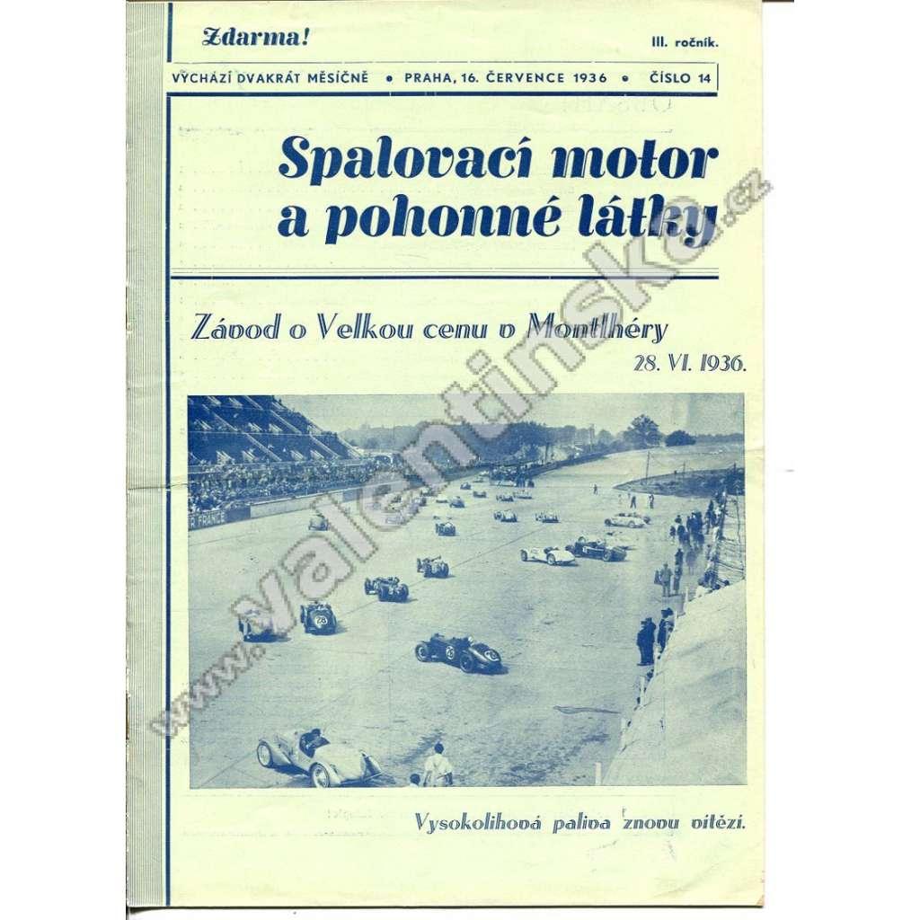 ČASOPIS SPALOVACÍ MOTOR A POHONNÉ LÁTKY III/14