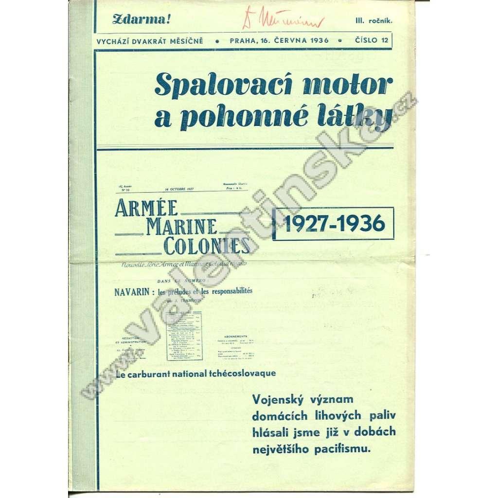 ČASOPIS SPALOVACÍ MOTOR A POHONNÉ LÁTKY III/12