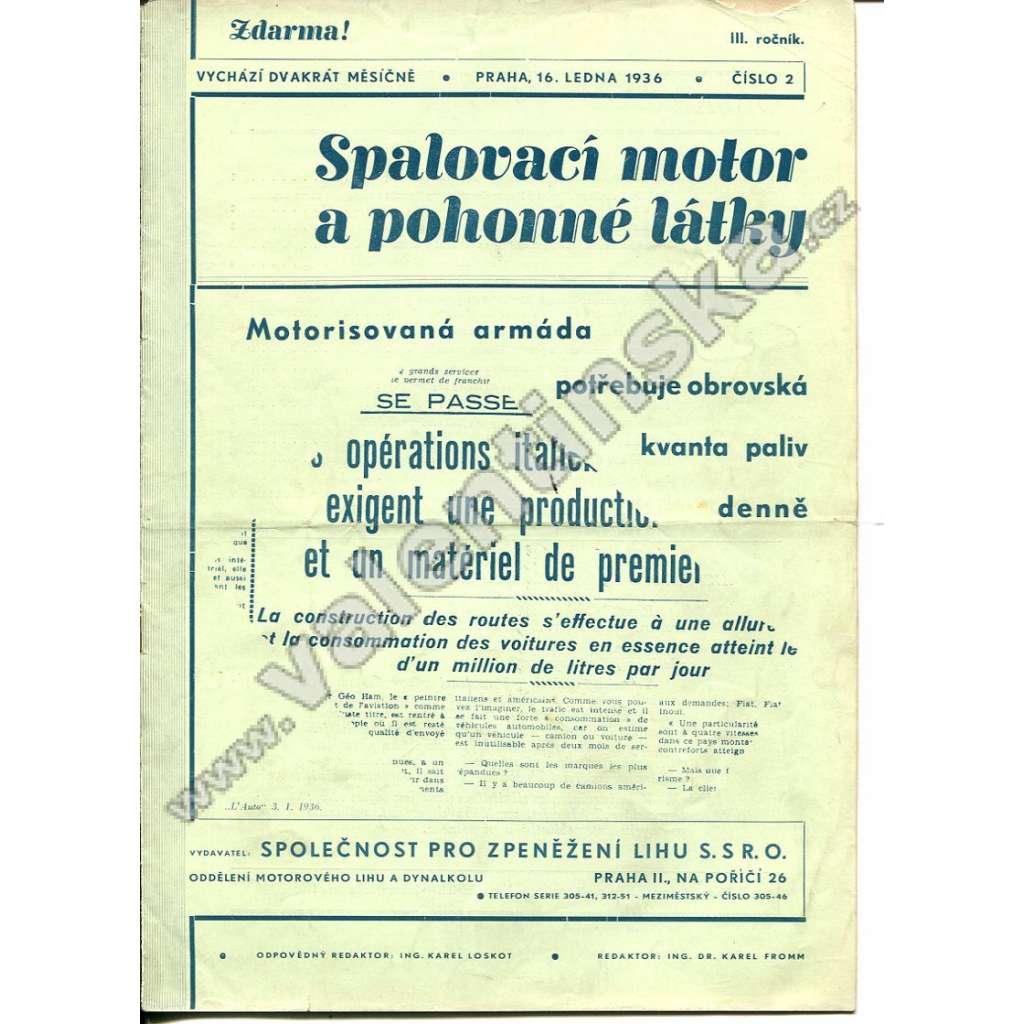 ČASOPIS SPALOVACÍ MOTOR A POHONNÉ LÁTKY III/2