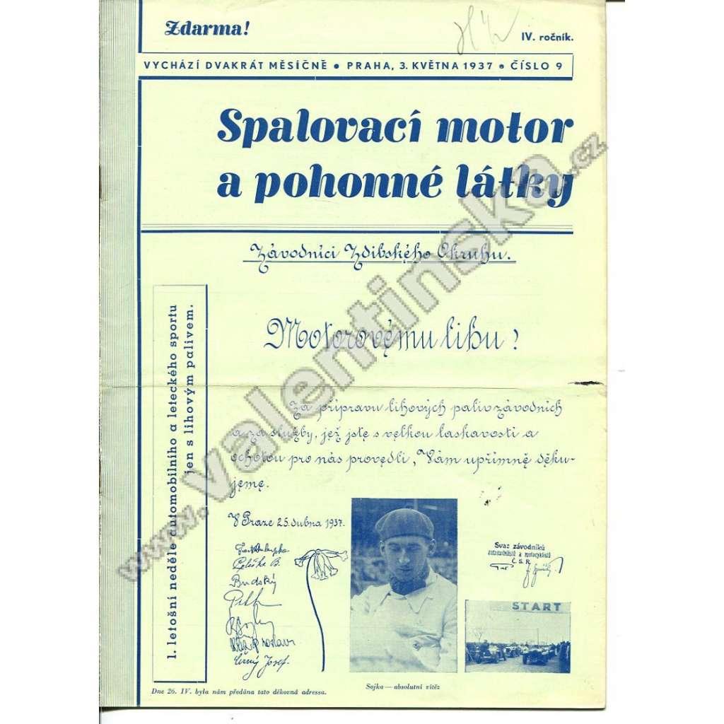 ČASOPIS SPALOVACÍ MOTOR A POHONNÉ LÁTKY IV/9
