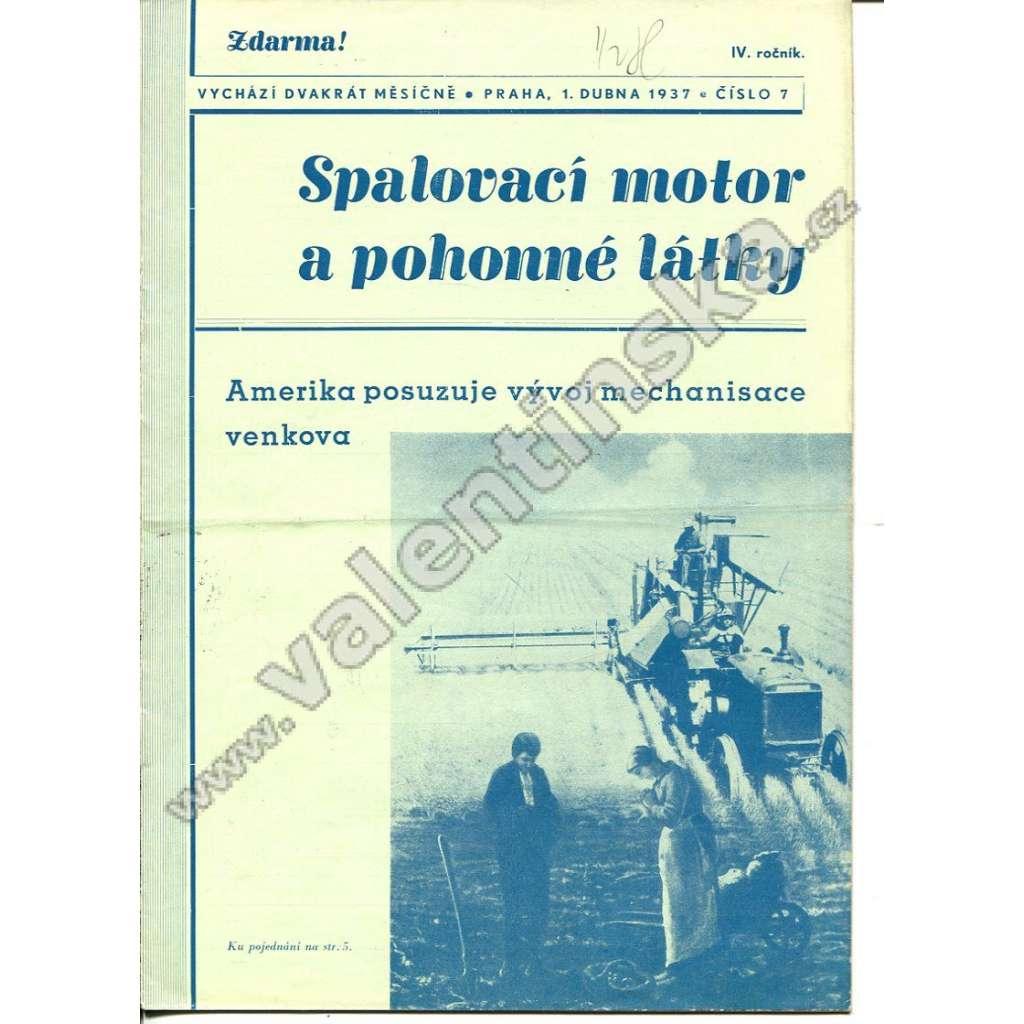 ČASOPIS SPALOVACÍ MOTOR A POHONNÉ LÁTKY IV/7
