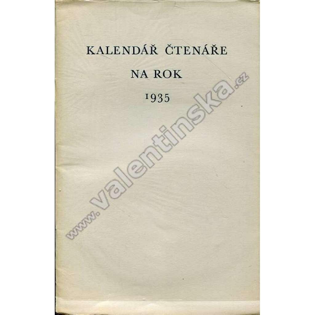 Kalendář čtenáře na rok 1935