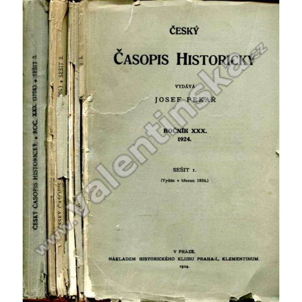 Český časopis historický,roč. XXX, sešit 1.-3,1924