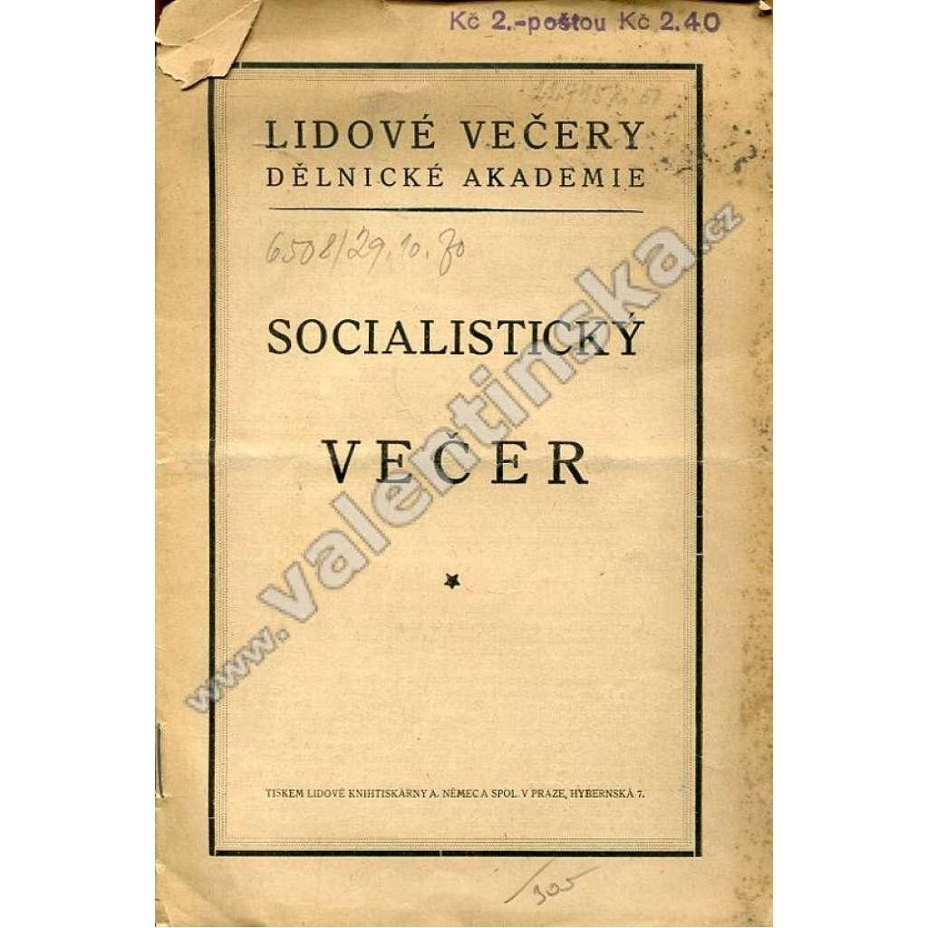 Socialistický večer