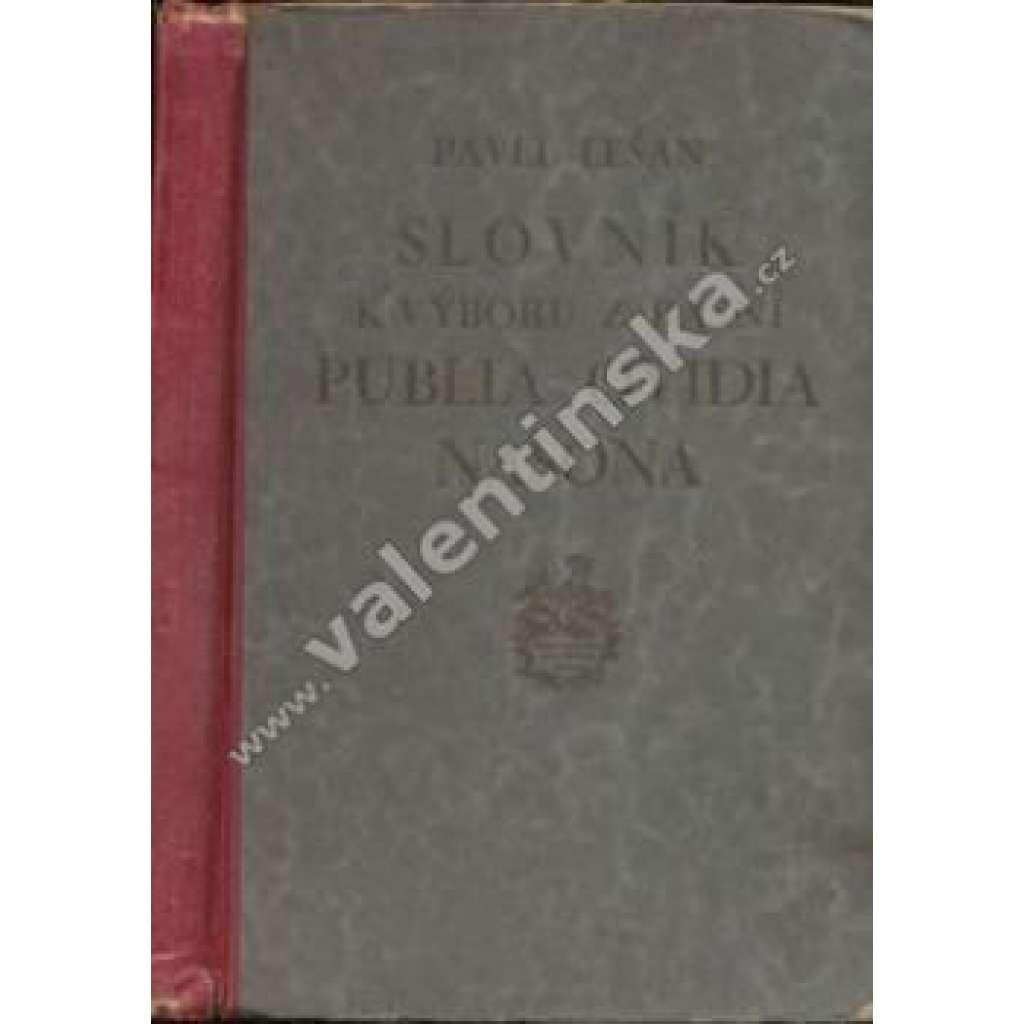 Slovník k výboru z básní P.Ovidia Nasona