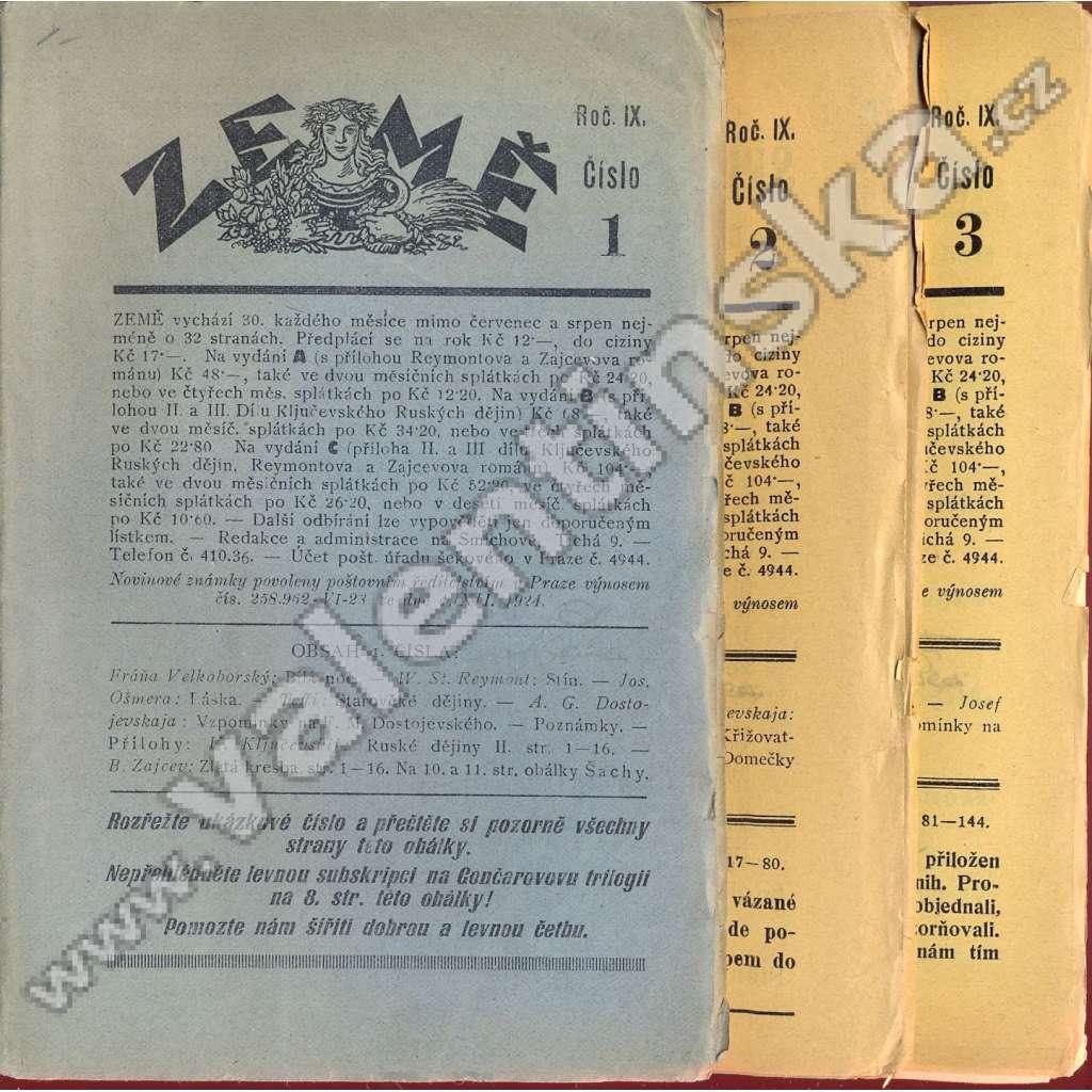 Země, r. IX. (1928), v sešitech