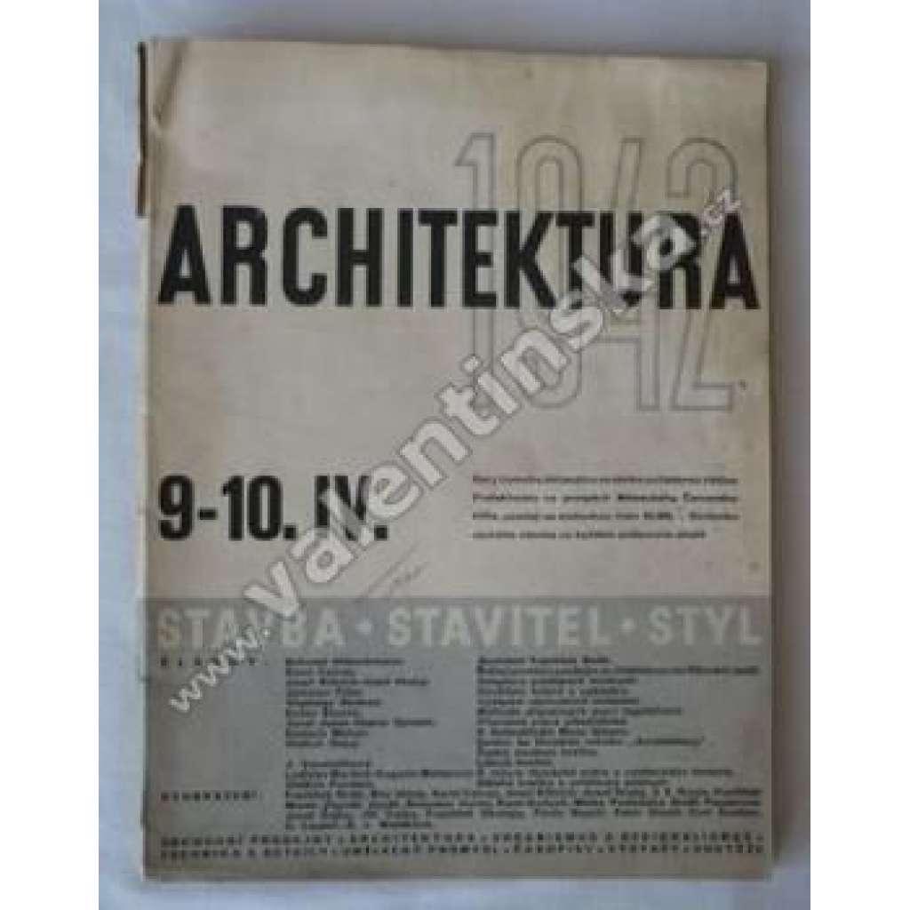 Architektura, 1942/ 9.-10.IV.