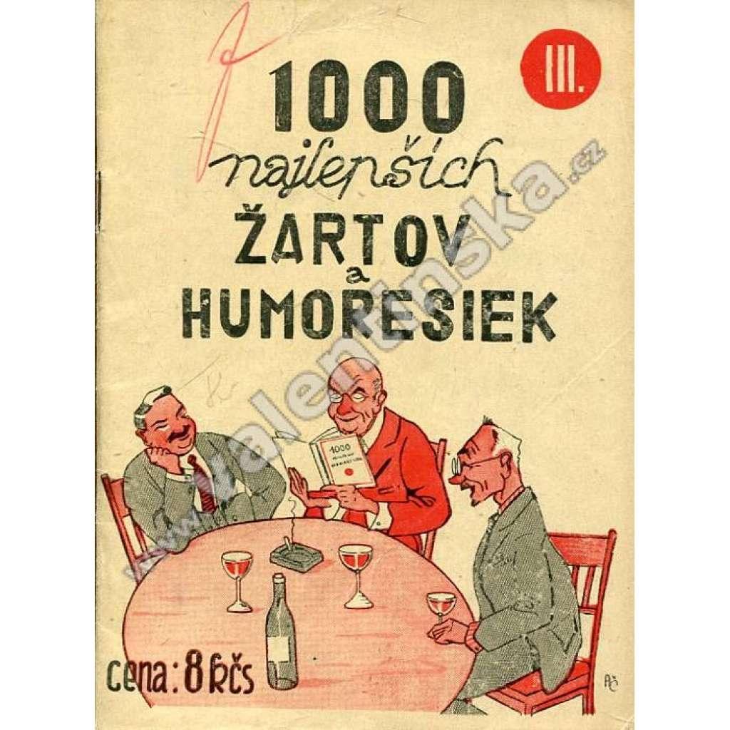 1000 najlepších žartov a humoresiek, III. díl