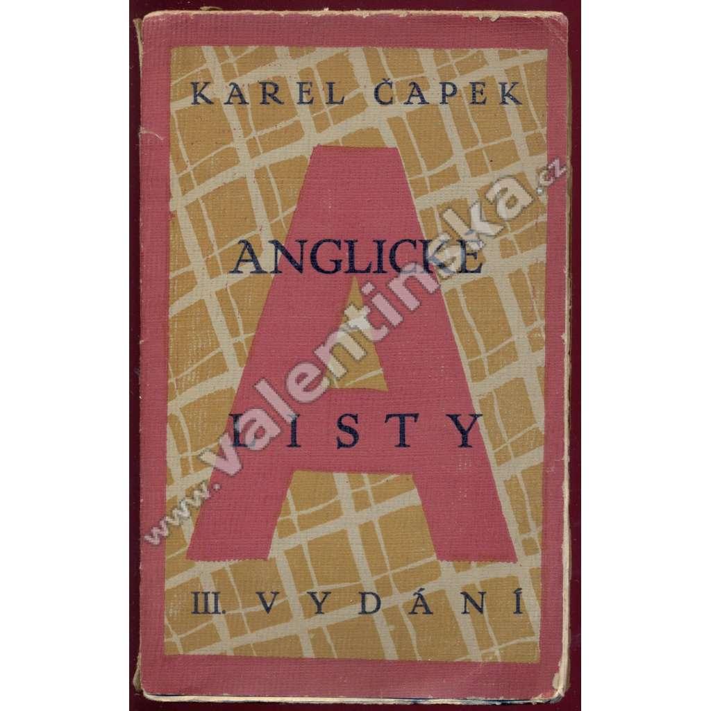 Anglické listy (obálka Josef Čapek)