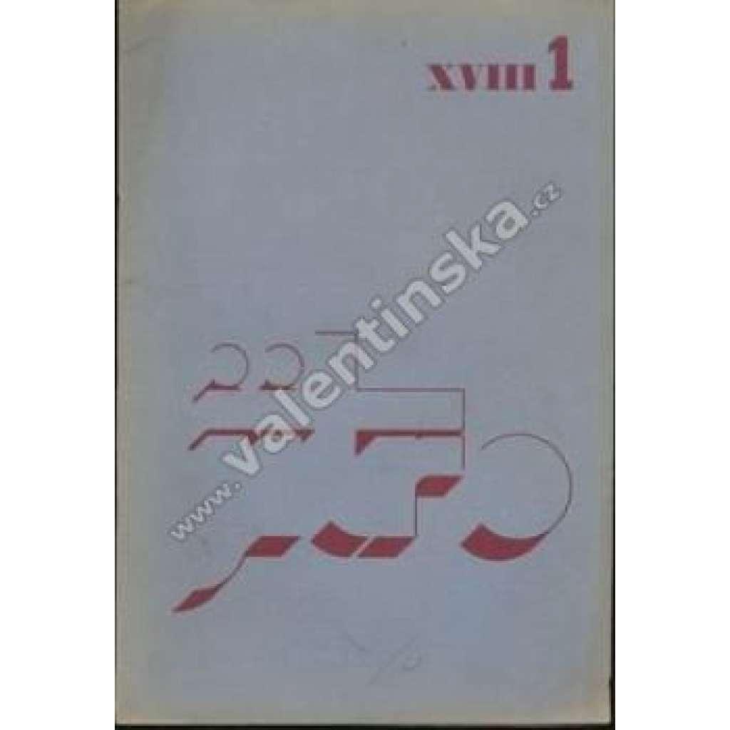 Časopis katolických studentů Jitro, r. XVIII., č.1