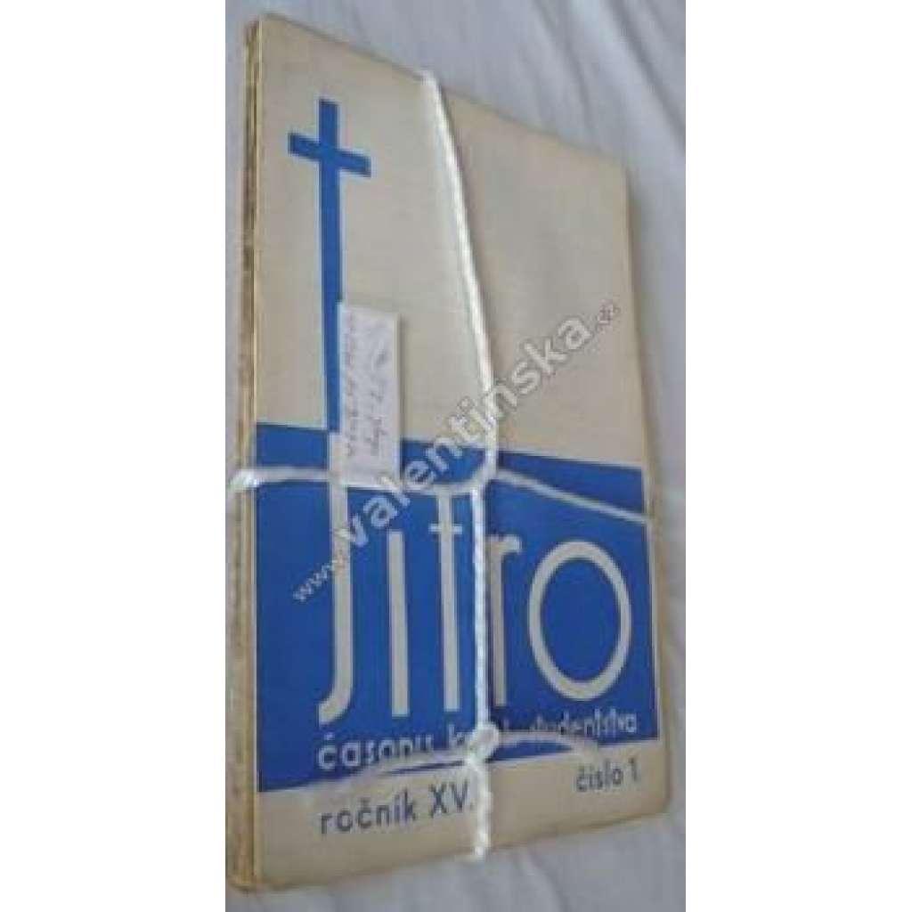 Časopis katolických studentů Jitro, r. XV.1933-34