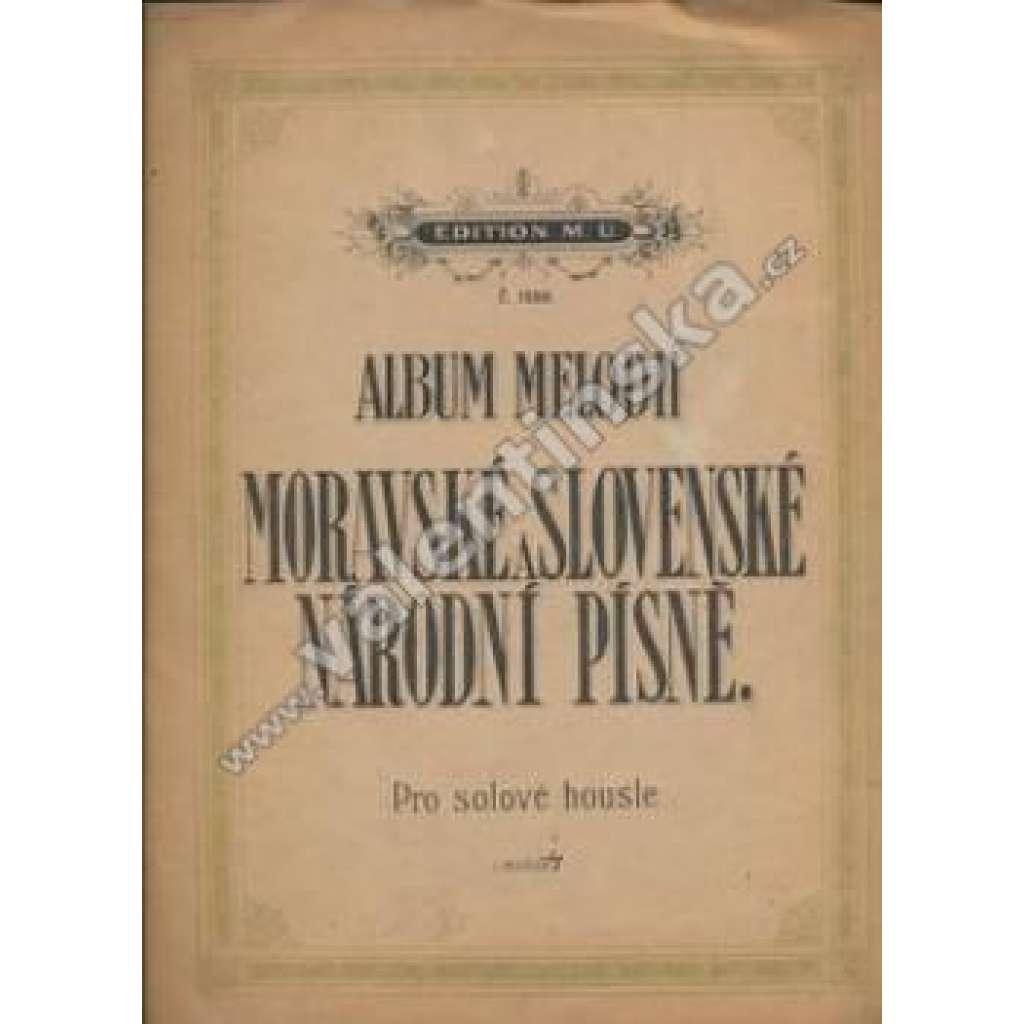 Moravské a slovenské národní písně