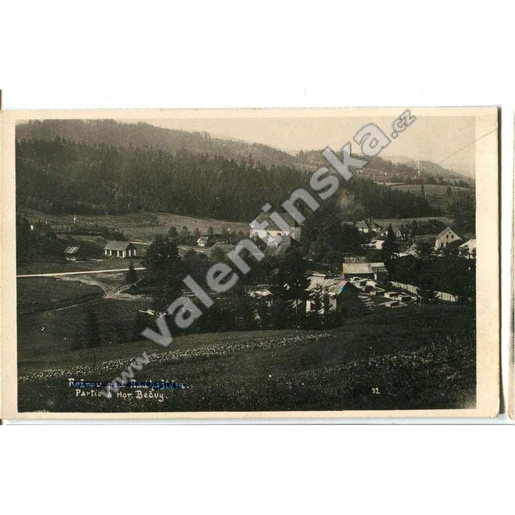 Horní Bečva, Rožnov pod Radhoštěm,, Vsetín