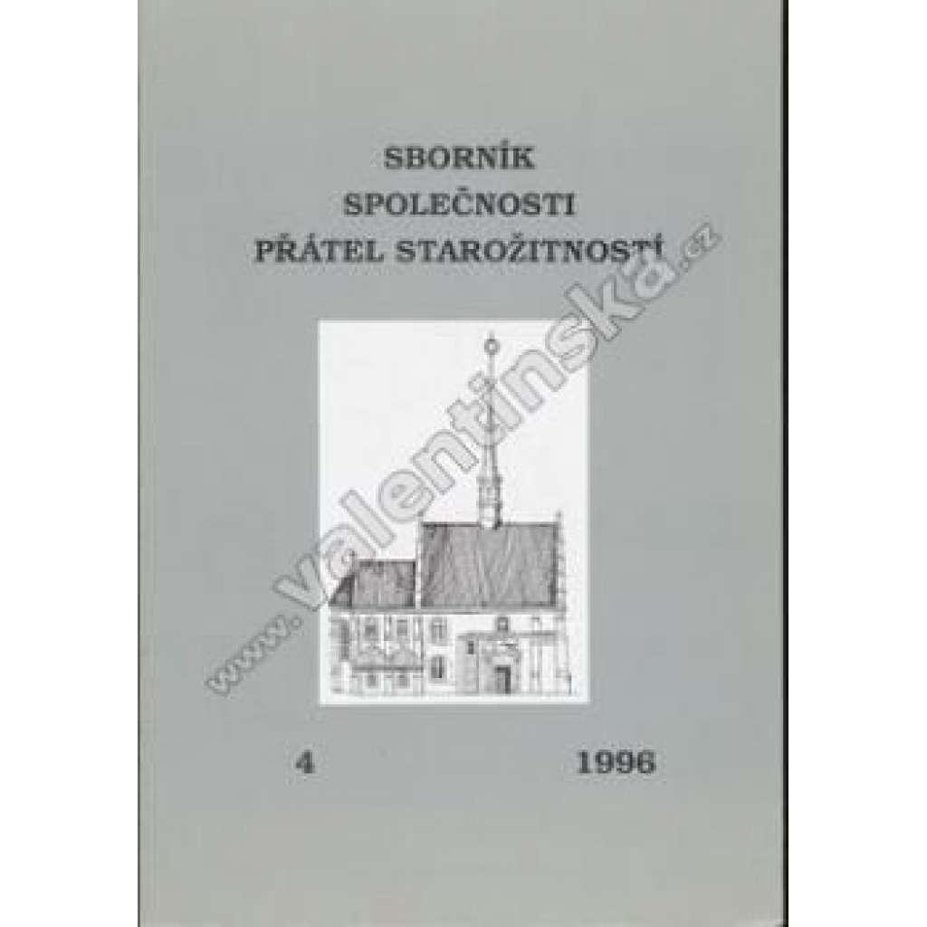 Sborník společnosti přátel starožitností 1996/4