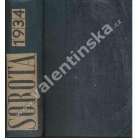 Sobota. 1934. Týdeník pro politiku, sociální ...