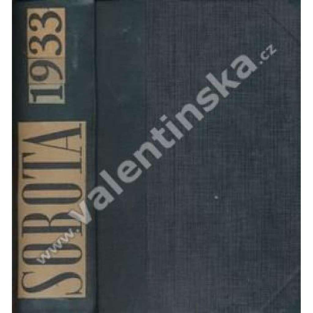 Sobota. 1933. Týdeník pro politiku, sociální ...