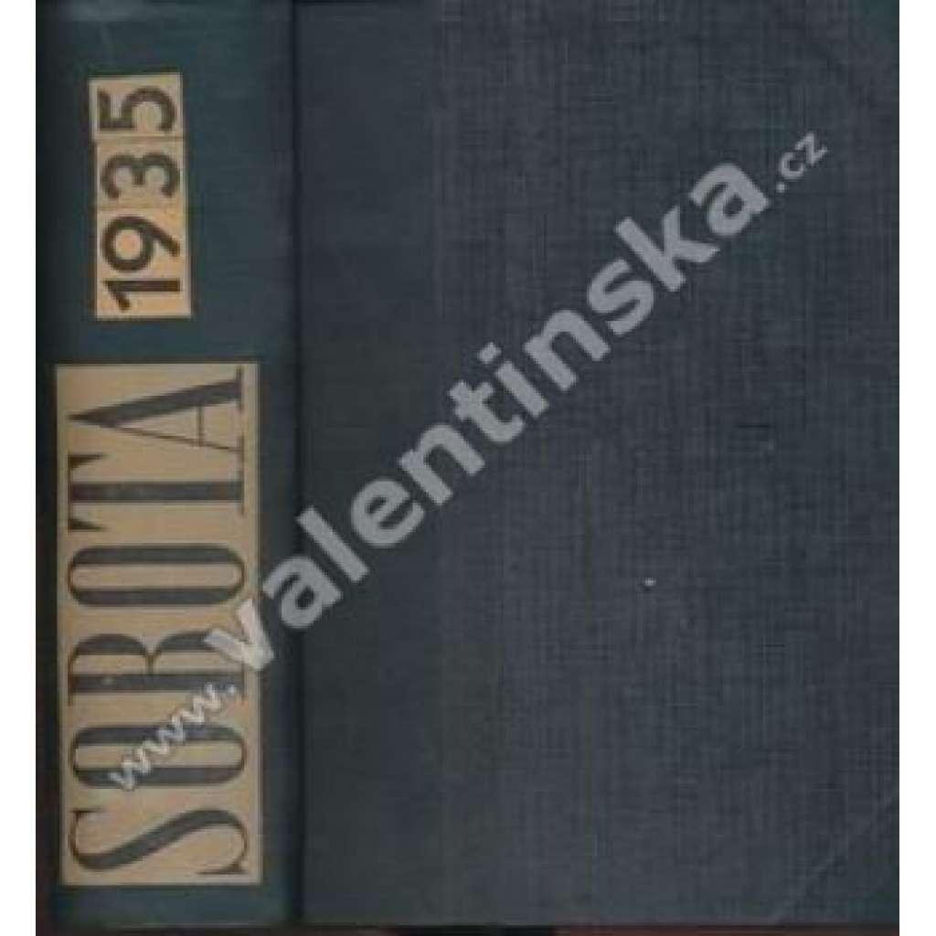 Sobota. 1935. Týdeník pro politiku, sociální ...