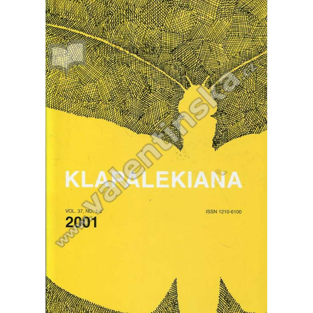 Klapalekiana, vol. 37, no. 1-2  (2001)