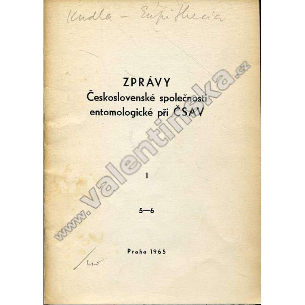 Zprávy Čsl. společnosti entomologické, 5-6/1965
