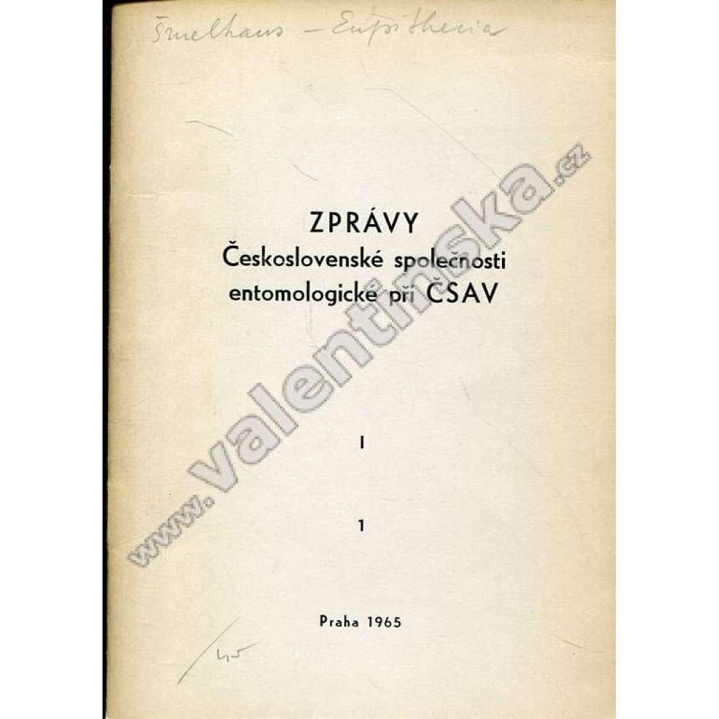 Zprávy Čsl. společnosti entomologické, 1/1965