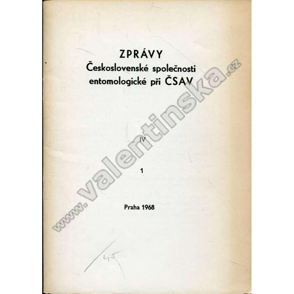 Zprávy Čsl. společnosti entomologické, 1/1968