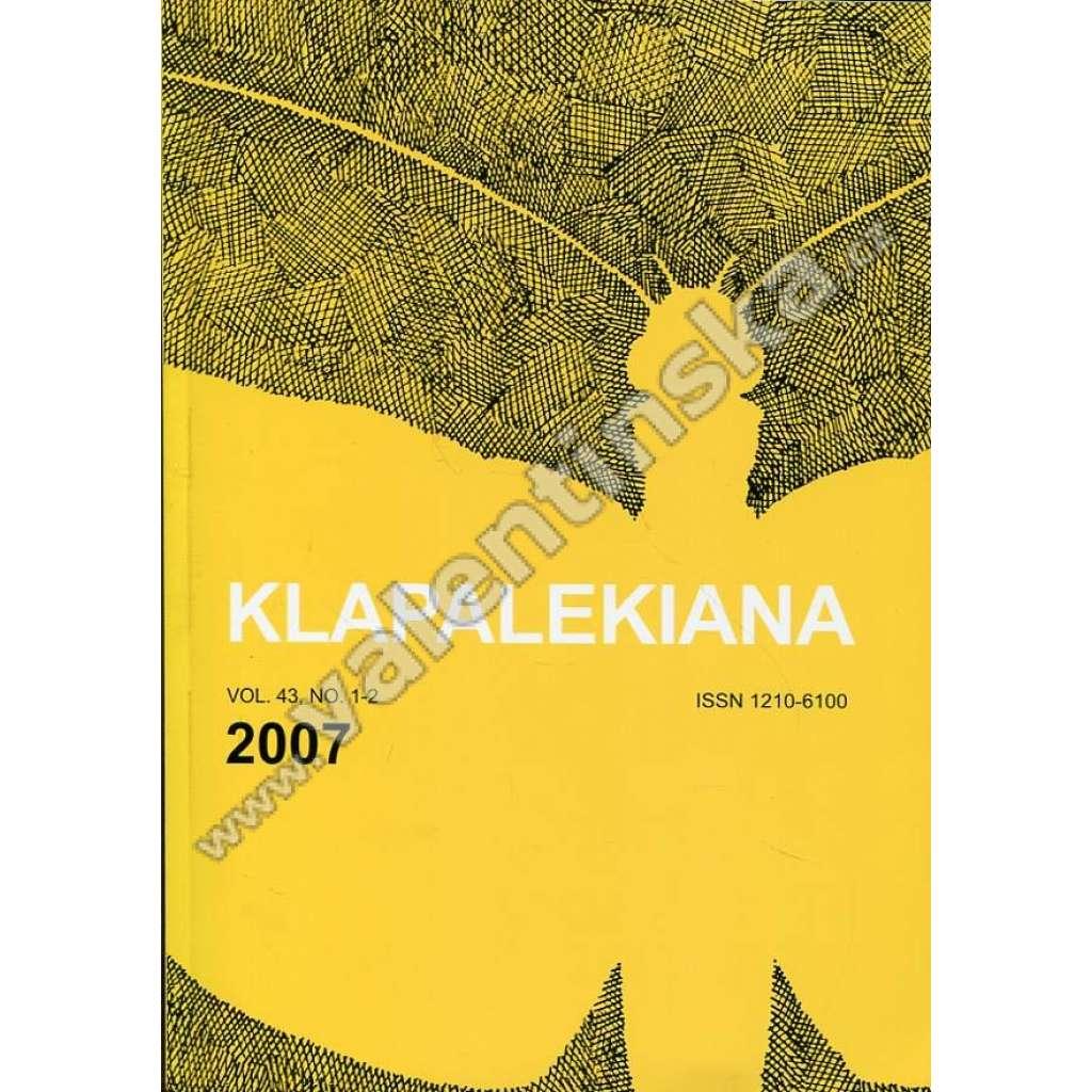 Klapalekiana, vol. 43, no 1-2 (2007)