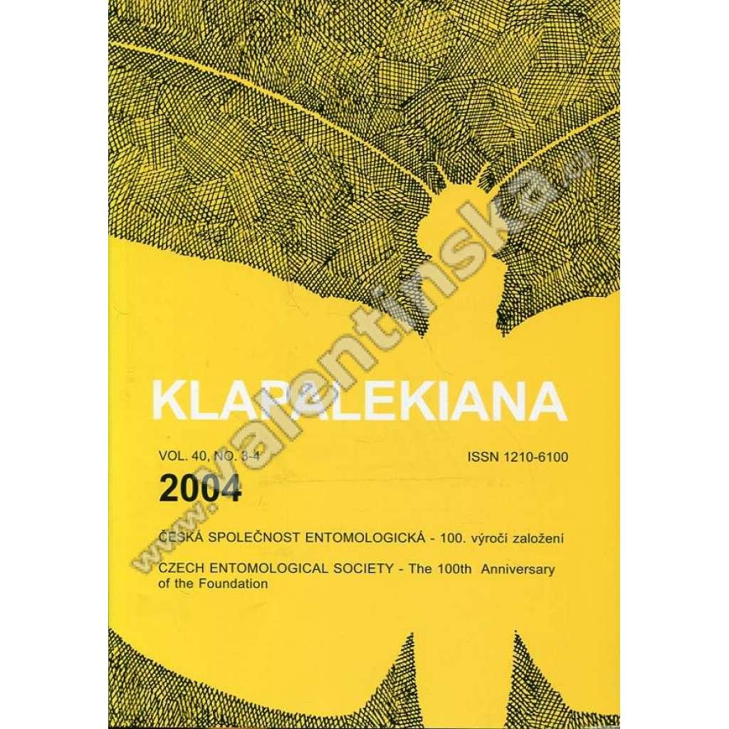 Klapalekiana, vol. 40, no. 3-4 (2004)