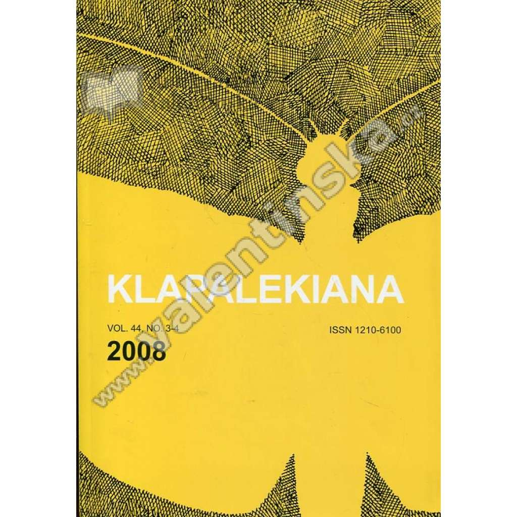 Klapalekiana, vol. 44., no. 3-4 (2008)