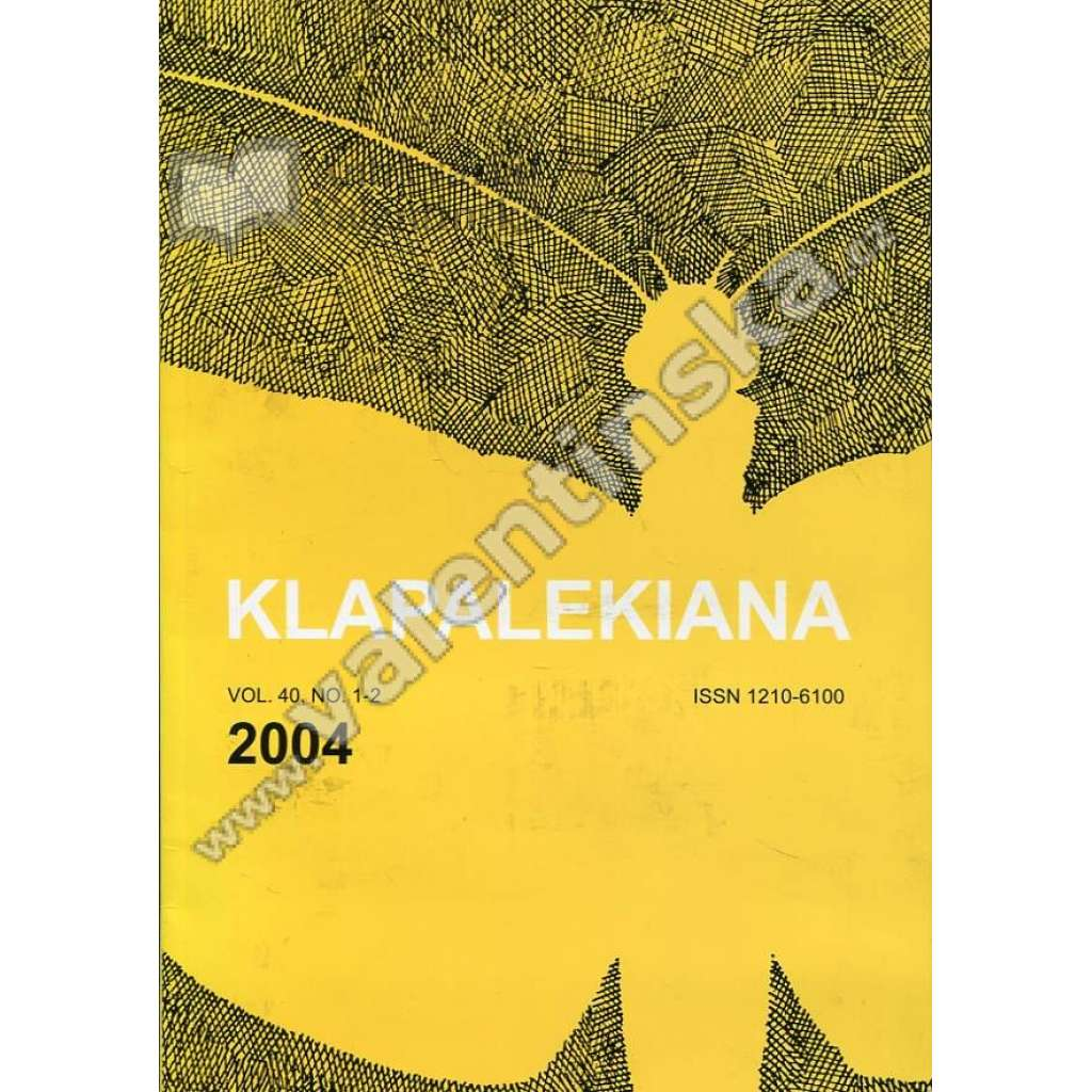 Klapalekiana, vol. 40, no. 1-2  (2004)