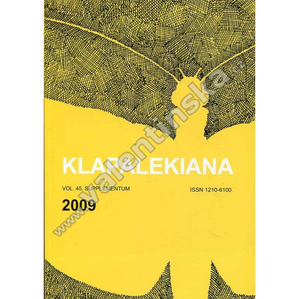 Klapalekiana, vol. 45. (2009) - supplementum
