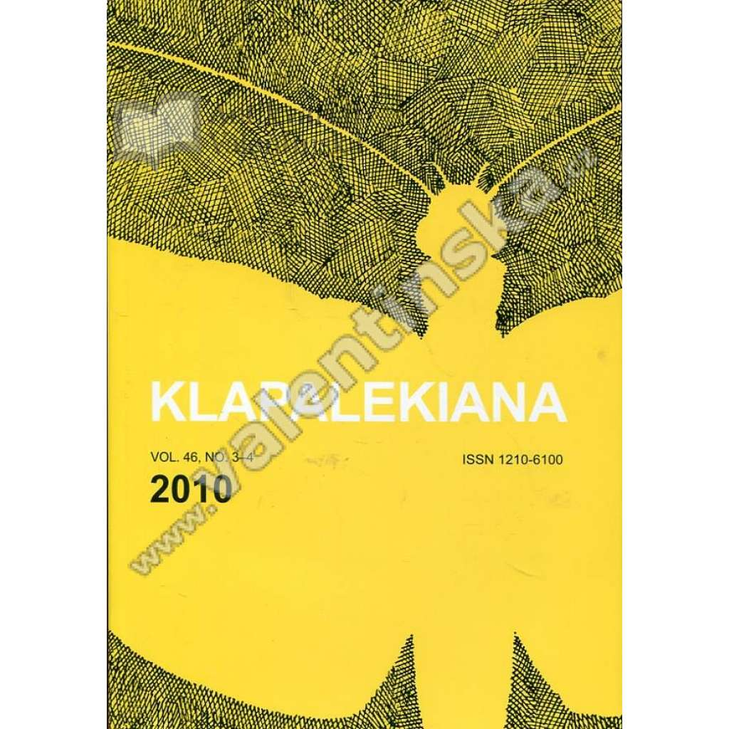 Klapalekiana, vol. 46, no. 3-4 (2010)