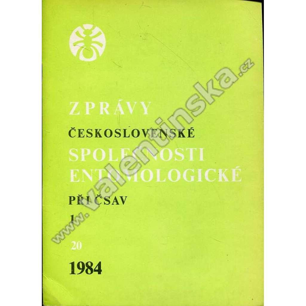 Zprávy Čs. společnosti entomologické, 1/1984