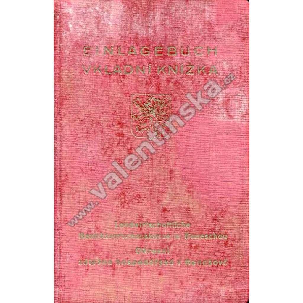 Einlagebuch = Vkladní knížka (40. léta)