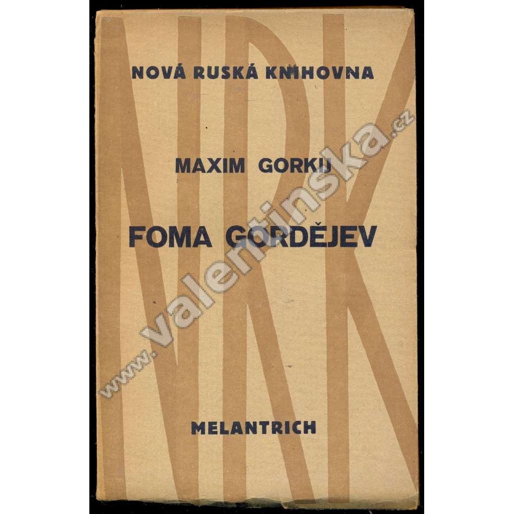 Foma Gordějev (obálka Josef Čapek)