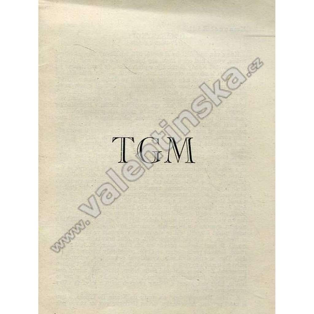 TGM (Tomáš Garrigue Masaryk)