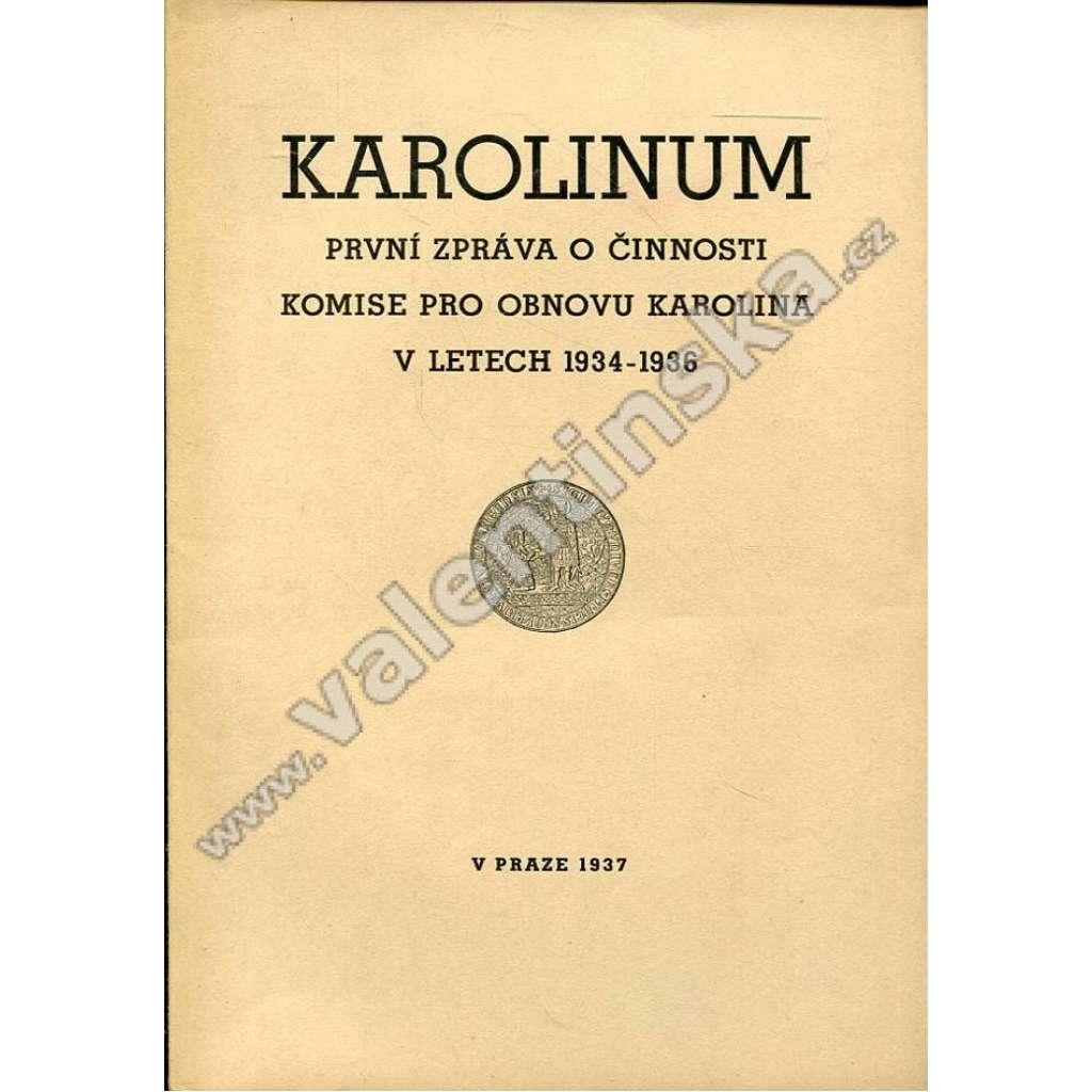 Karolinum: První zpráva o činnosti komise pro...