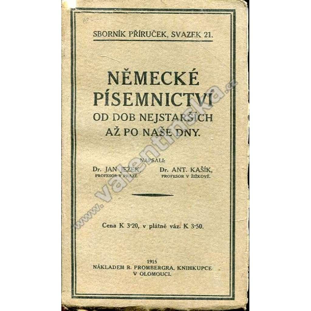 Německé písemnictví od dob nejstarších až...