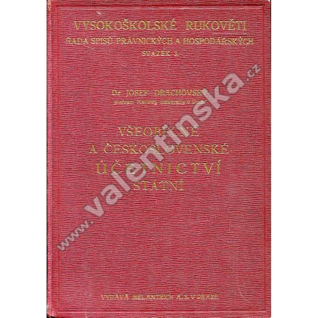 Všeobecné a československé účetnictví státní
