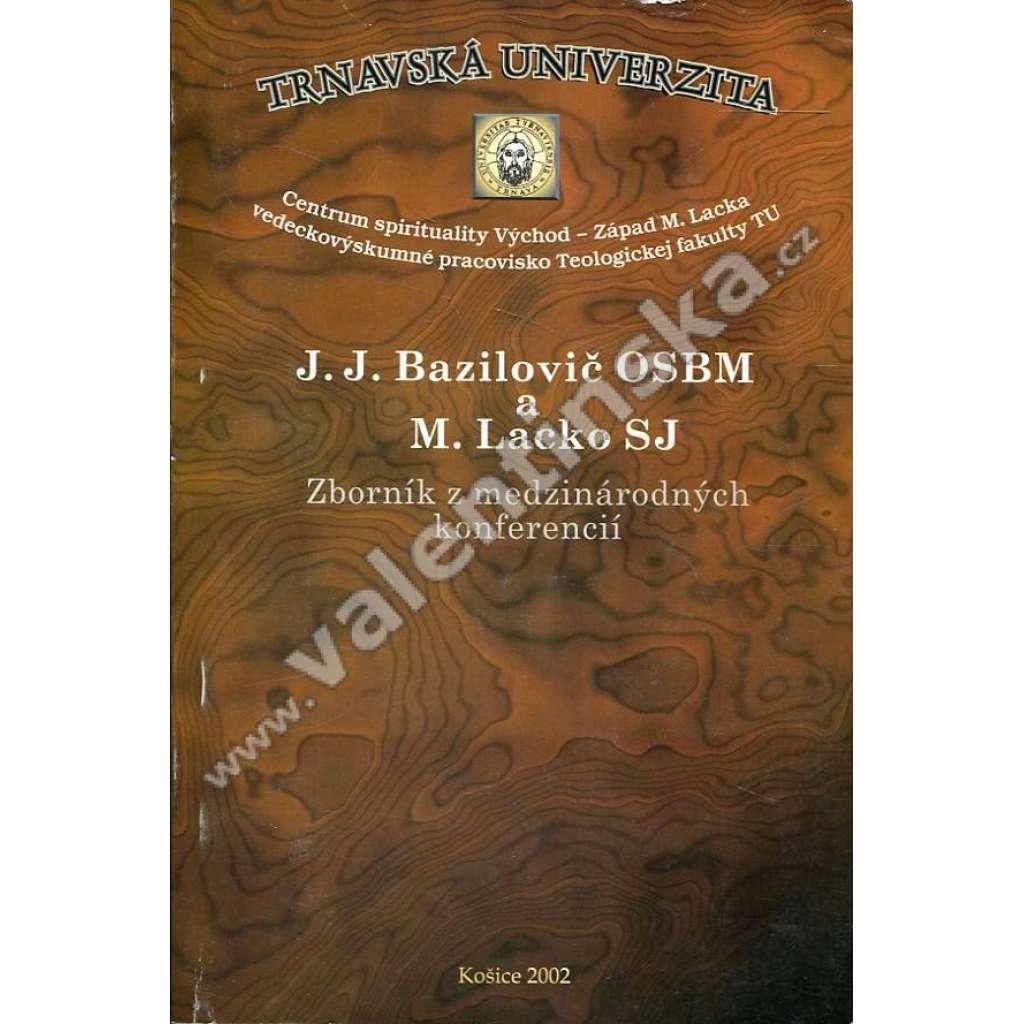 J. J. Bazilovič OSBM a M. Lacko SJ