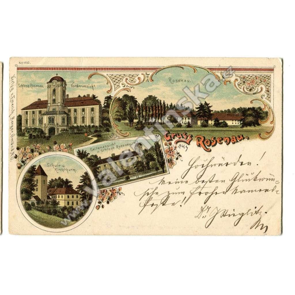 Rosenau, Zwettl, Osterreich Rakousko, litografie