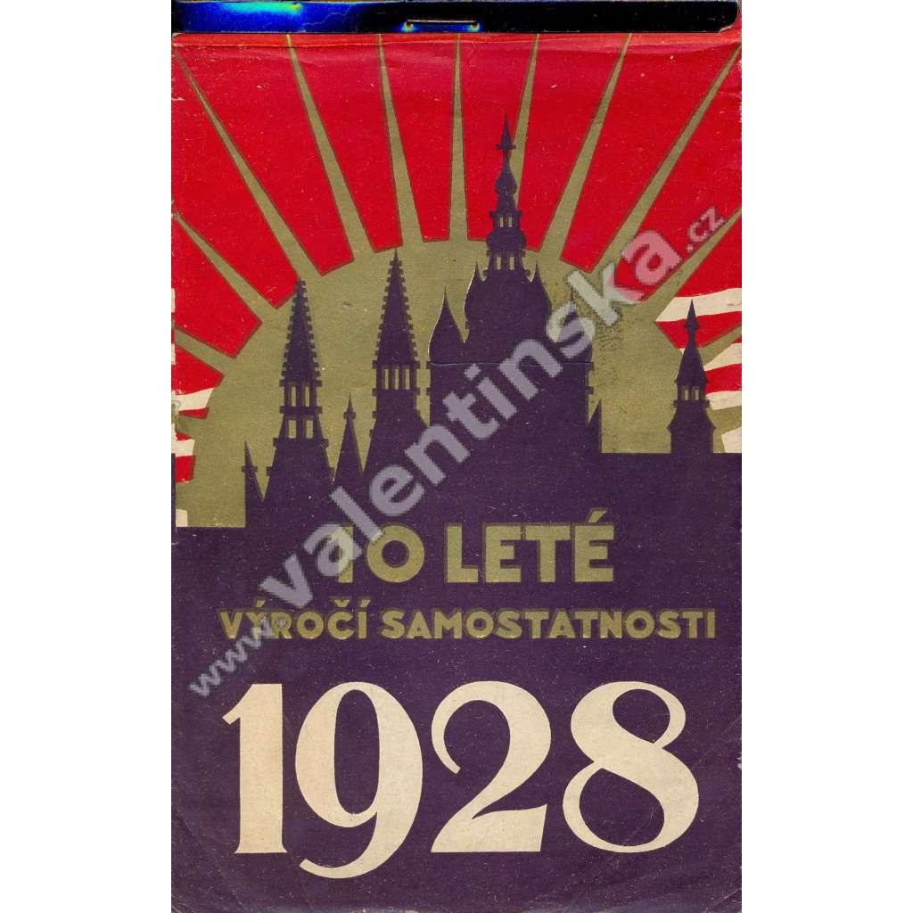 Týdenní kalendář na rok 1928