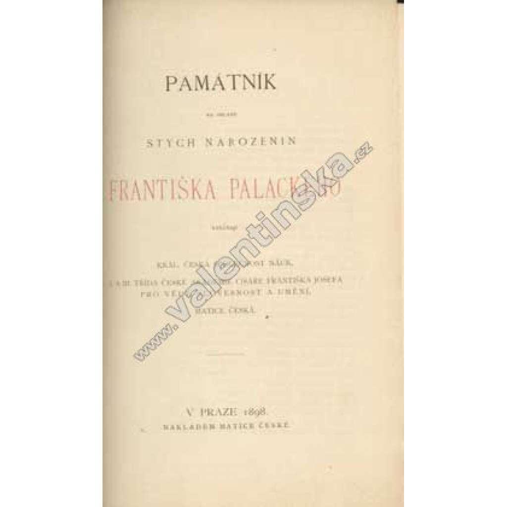 Památník na oslavu stých narozenin F. Palackého