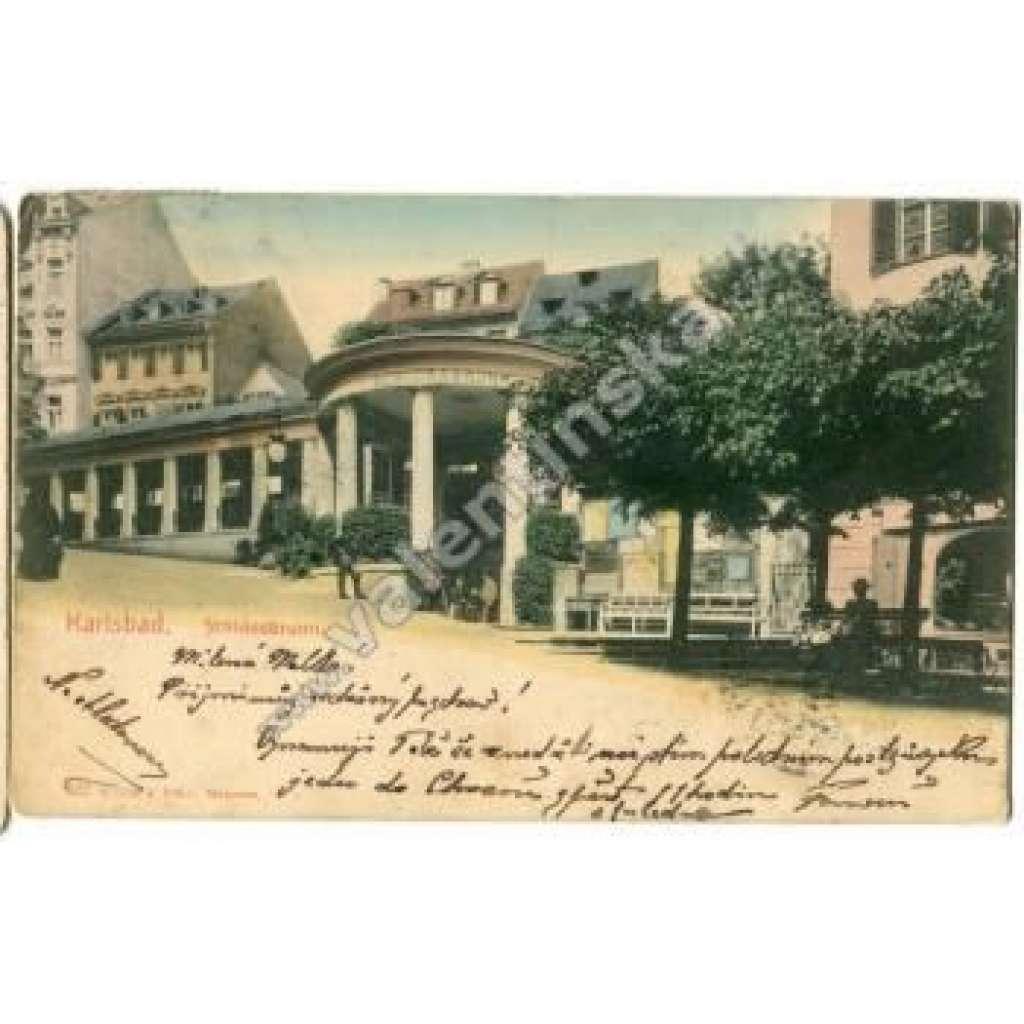 Karlovy Vary Karlsbad zámecký pramen