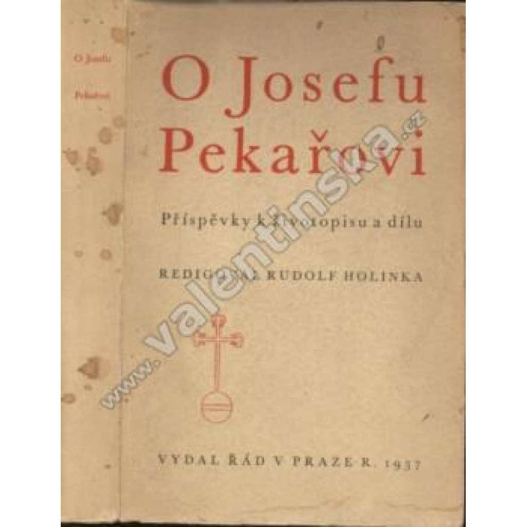 O Josefu Pekařovi